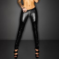 Wetlook legging met lak