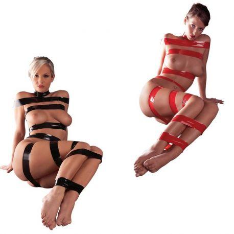 Bondage tape zwart of rood