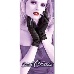 Zwart elastische handschoentjes