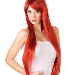 Pruik lang rood haar