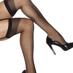 Zwart nylons met verstevigde rand