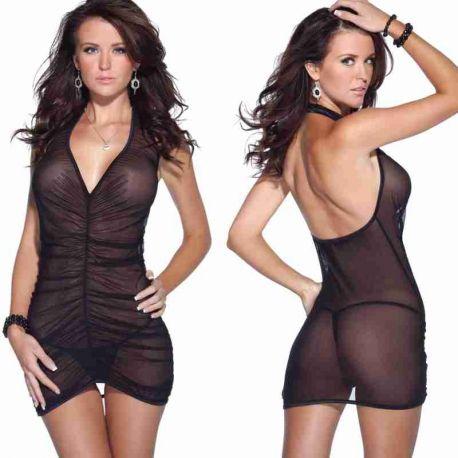 Transparant zwart jurkje