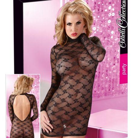 Zwart transparant jurkje