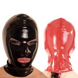 Latex masker met rits