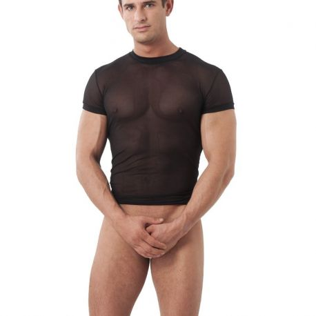 Transparant zwart shirt