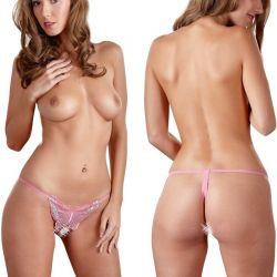 Roze vlinder string