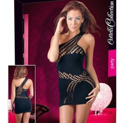 Zwart jurkje met enkele schouderband