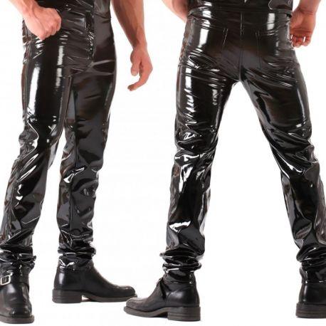 Lak broek in jeans model