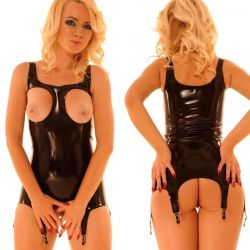 Latex corselet borstvrij
