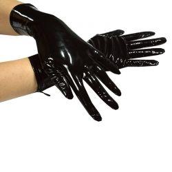 Lak handschoentjes met rits