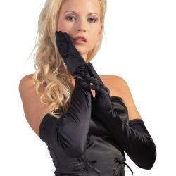 Zwarte elastische opera gloves