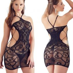 Zwart jurkje met slipje