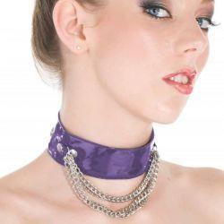 Lak halsband met kettinkjes