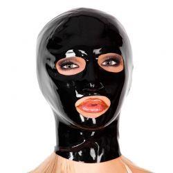 Latex masker met ronde openingen
