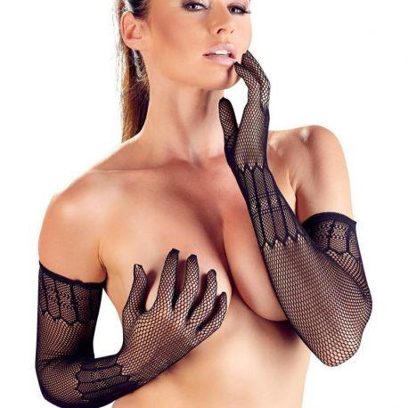 Lange elastische net handschoenen