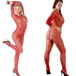 Rode visnet catsuit
