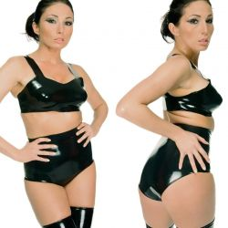 Latex taille slip
