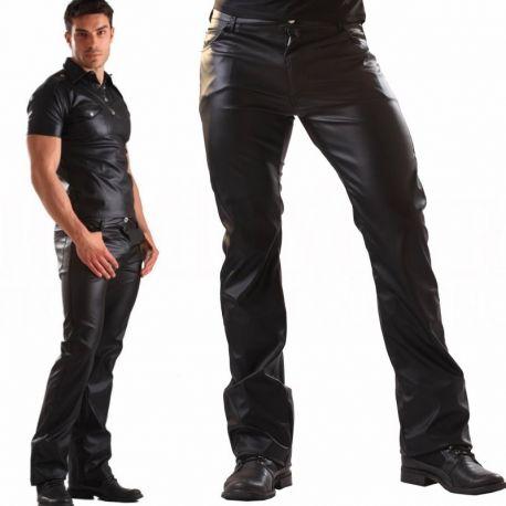 Leatherlook jeans model 501 voorzijde